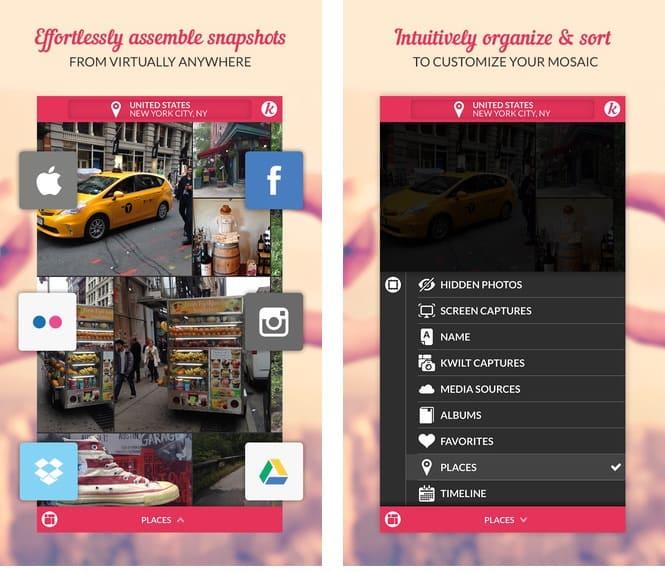 Kwilt, la aplicación de iOS que unifica nuestras fotos de redes sociales, dispositivos y servicios de almacenamiento online
