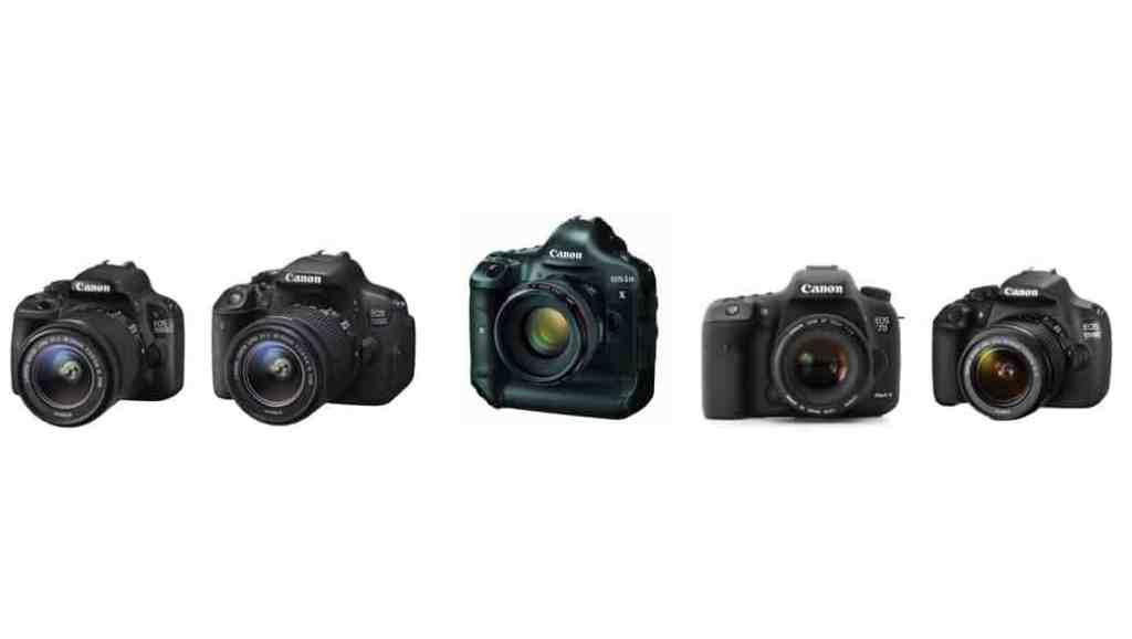 Cámaras de Canon: cámaras DSLR (2015)