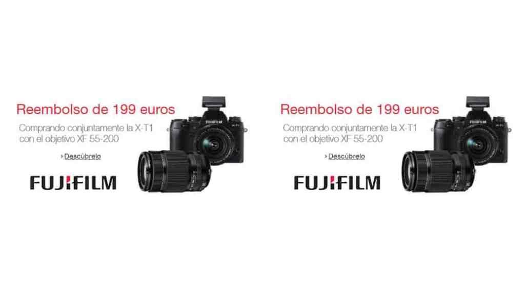 Promoción de Fujifilm: descuento de 199 euros al comprar la cámara EVIL X-T1 y el objetivo XF 55-200