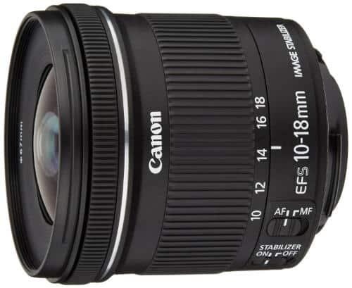 Los objetivos de Canon que debes comprar: Canon EF-S 10-18 mm f:4.5-5.6 IS STM
