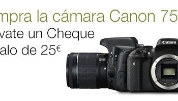 ¡Promoción! Cheque regalo por comprar una DSLR Canon EOS 750D