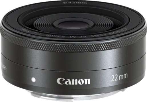 Canon EF-M 22 mm f/2 STM - Objetivo para Canon (distancia focal fija 22mm, apertura f/2-22) en oferta