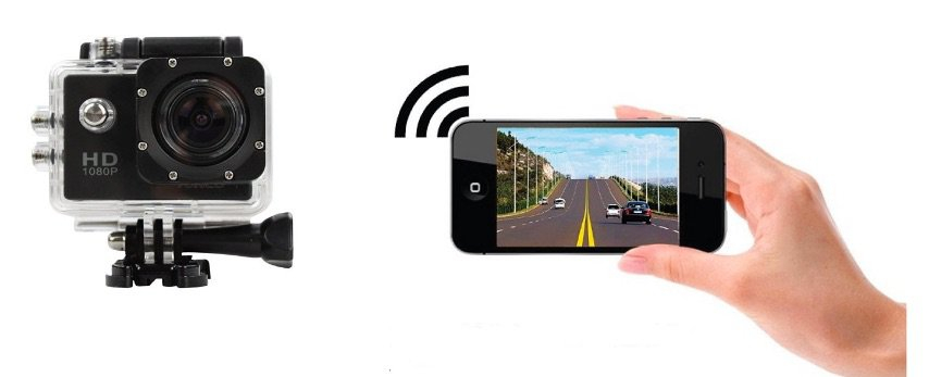 TecTecTec Videocámara deportiva WiFi con carcasa sumergible, Video de Alta definición 1080p