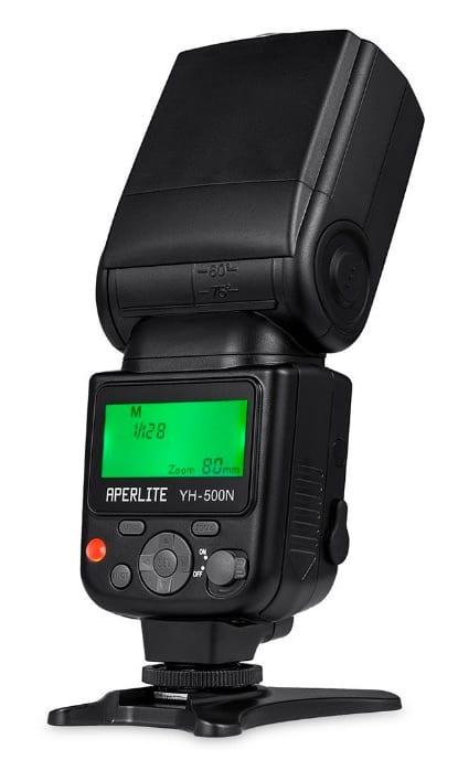 Aperlite Speedlite YH-500N - Flash Profesional, para Nikon Digital Camara SLR, Soporta a TTL, Modelos S1 & S2 Inalambricos