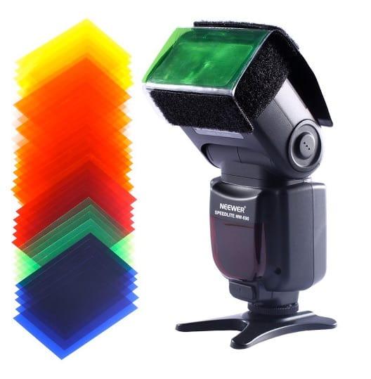 35 filtros de colores para flash de Neewer por menos de 5 euros