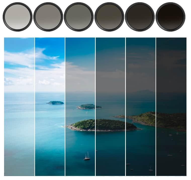 Filtros esenciales de fotografía. Filtros de densidad neutra
