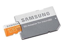 Tarjeta de memoria microSD Samsung EVO de 128 GB por menos de 35 euros