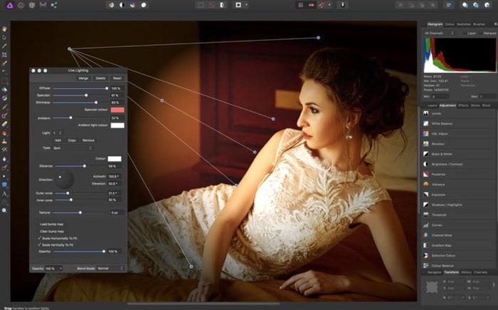 Affinity Photo app fotos