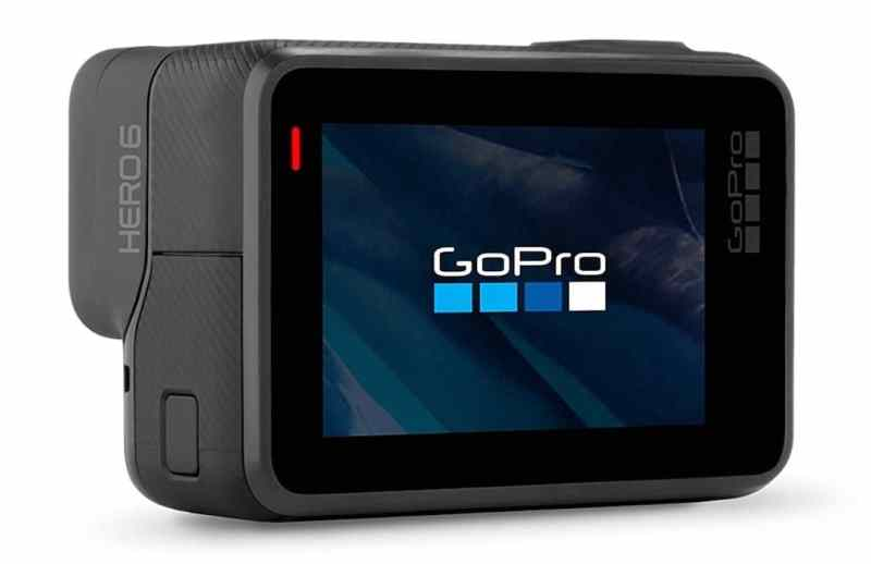 """GoPro Hero6 Black - Videocámara de acción (4K, 12 MP, resistente y sumergible hasta 10m sin carcasa, pantalla táctil 2"""")"""