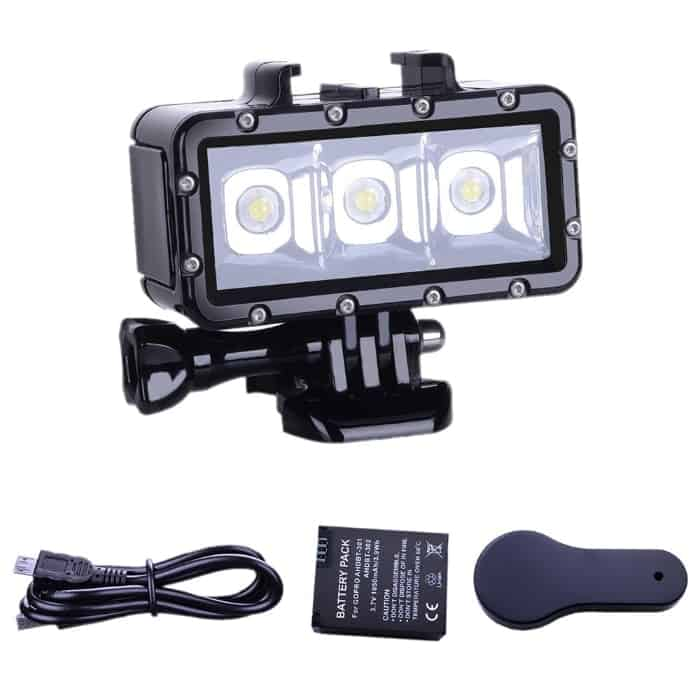 Suptig Diving light para GoPro