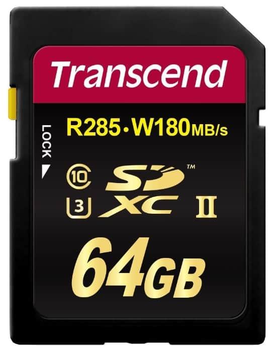Transcend 64GB SDXC UHS-II U3 64GB SDXC UHS-II Clase 10 Memoria Flash