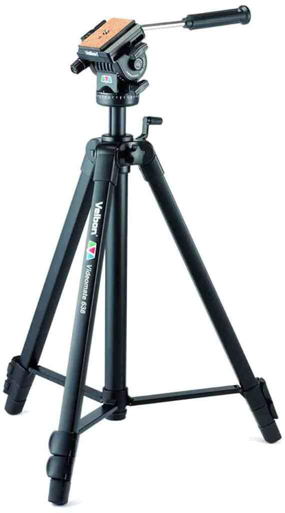 ¿Y si necesitas el trípode para grabar vídeos cuando vas a de viaje? Velbon Videomate 638