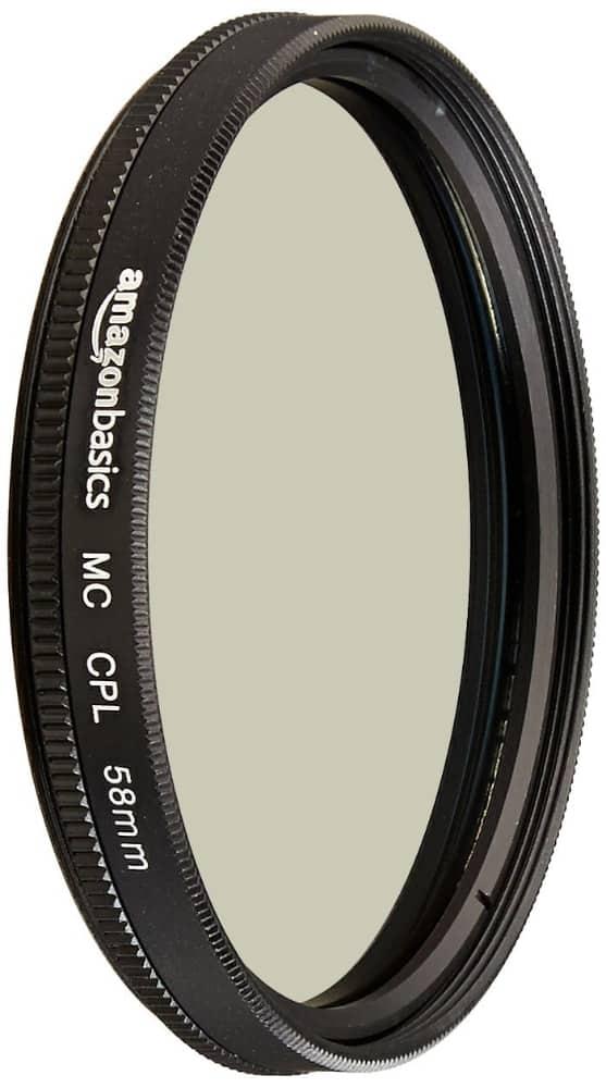 El filtro polarizador más barato: AmazonBasics - Filtro polarizador circular