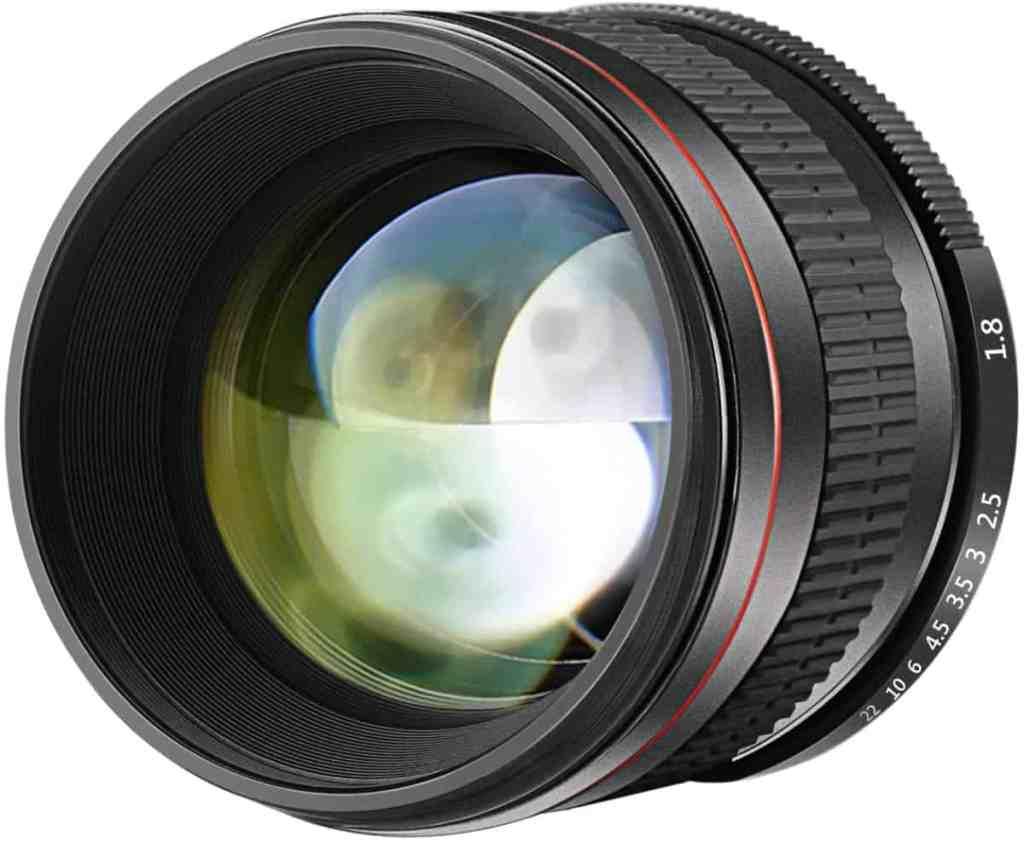 Neewer 85mm f/1.8 Lente de Enfoque Manual