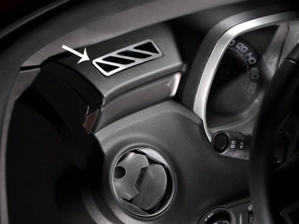 2010 – 2015 5th Gen Camaro V6 & V8 A/C Vent Trim Upper Dash