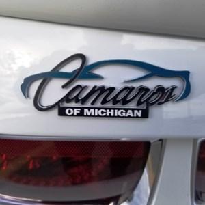 Camaros of Michigan Official Logo Trunk Badge