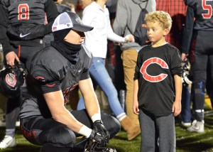 Feature story on Camas linebacker Michael Matthews. Looking for action shot from practice and possibly a portrait/mug.