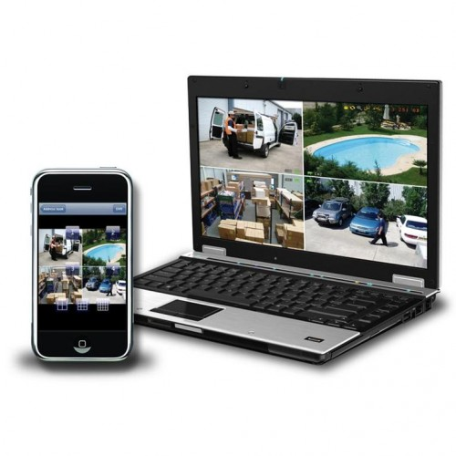 4 Channel CCTV iPhone and Smartphone App-500x500