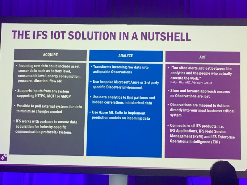 IFS Labs explains its IoT / AI solution 'in a nutshell'