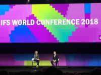 Darren Roos, CEO of IFS and Amy McWhirter, Moderator at IFS World 2018