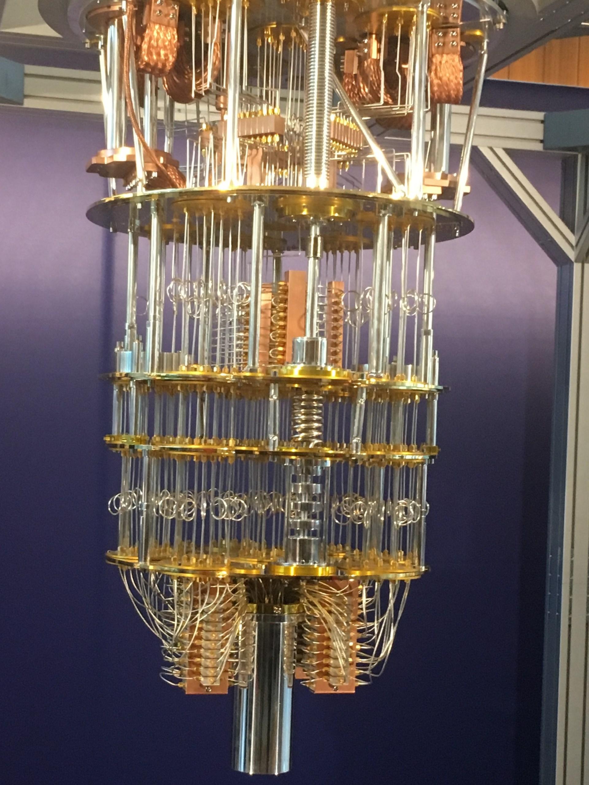 Model of the internals of IBM's Q (quantum) computer