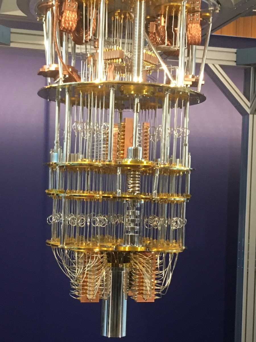 Model of the internals of IBM's Q (quantum) computer