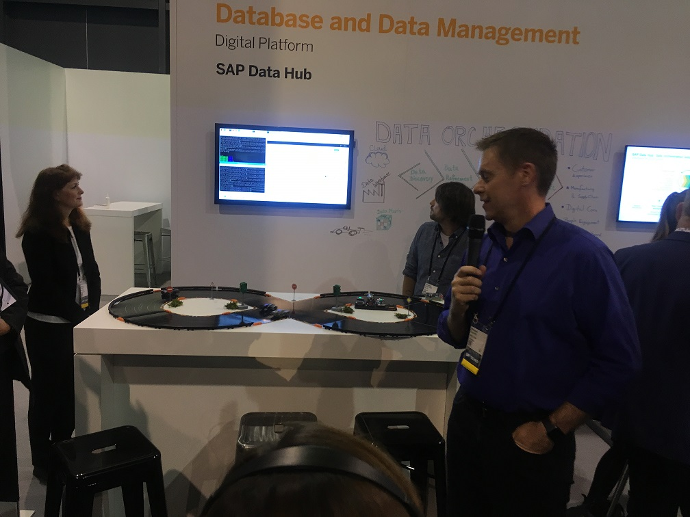 Mike Eacrett, VP Product Management – Big Data, demonstrating SAP Data Hub