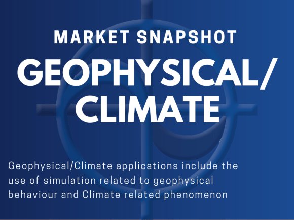 Geophysical/Climate applications include the use of simulation related to geophysical behaviour and Climate related phenomenon