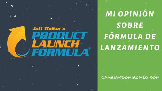 Mi opinión sobre Fórmula de Lanzamiento