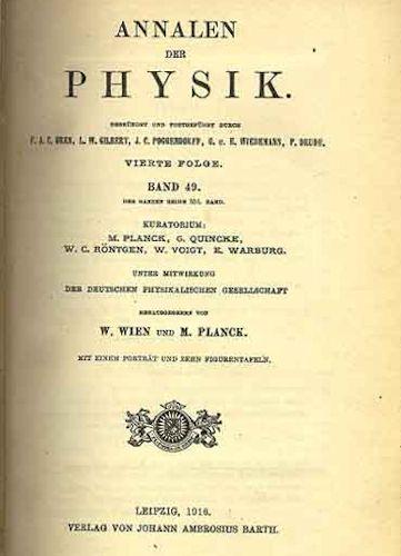 """Un ejemplar de """"Anales de la Física"""""""