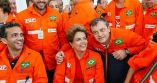 Dilma Rousseff con camiones cisterna
