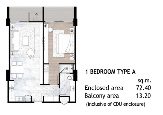 1 Bed Type A