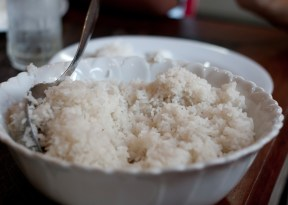 Rice...yes, they eat rice in Cambodia.