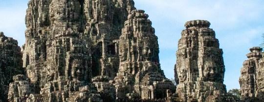 Face Towers Bayon Temple - Angkor Thom, Siem Reap, Cambodja