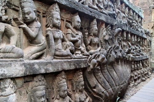 Terrace of Leper King - Angkor Thom, Siem Reap, Cambodja