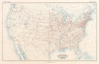 1926 us highway system map