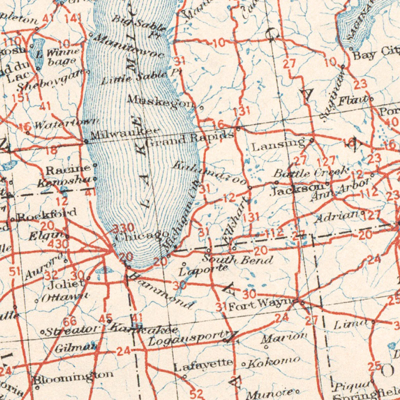 1926 US Highway System Map Transit Maps Store