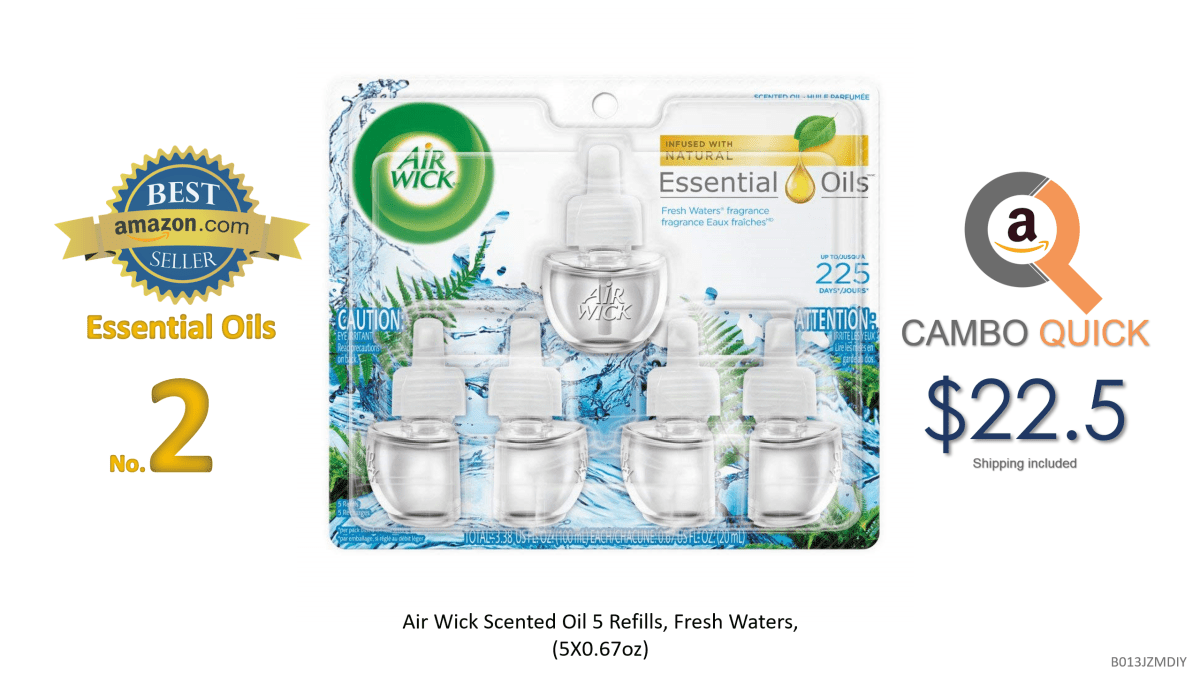 Air Wick Scented Oil 5 Refills, Fresh Waters, (5X0.67oz), Air Freshener.png