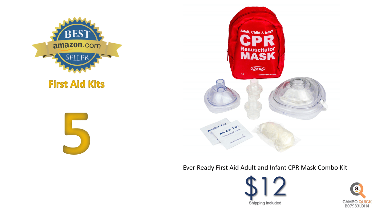 Ever Ready First Aid Adult and Infant CPR Mask Combo Kit with 2 Valves (with Pair of Nitrile Gloves & 2 Alcohol Prep Pads) (1 Kit).png