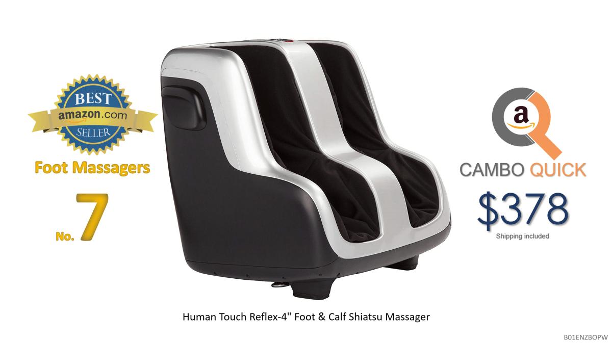 Human Touch Reflex-4 Foot & Calf Shiatsu Massager with Patented Figure-8 Technology