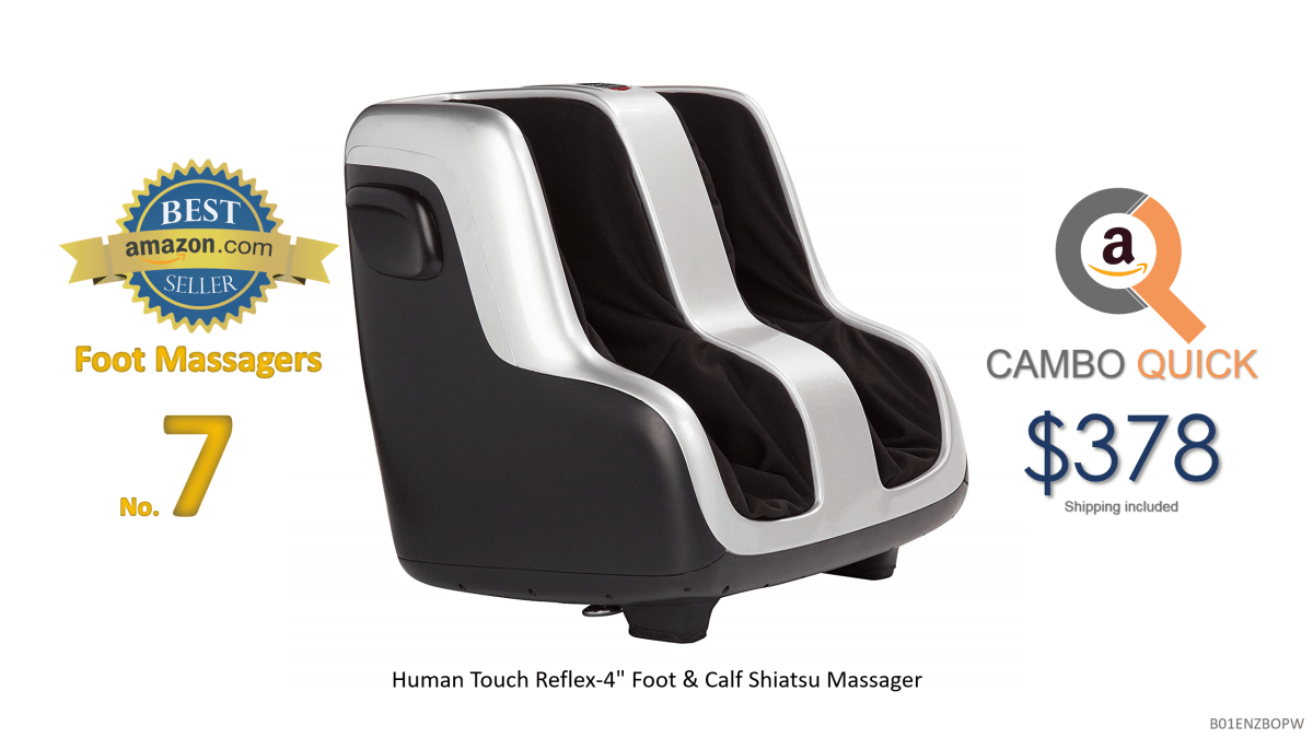 Human Touch Reflex-4 Foot & Calf Shiatsu Massager with Patented Figure-8 Technology