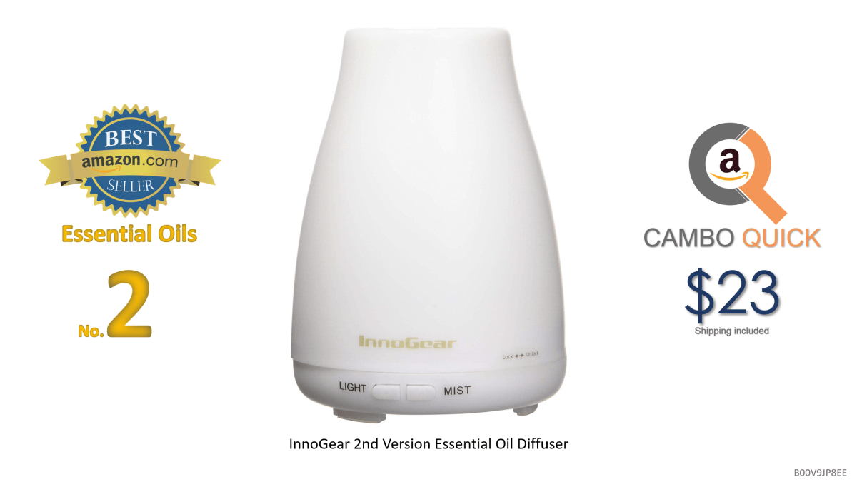 InnoGear 2nd Version Aromatherapy Essential Oil Diffuser Ultrasonic Diffusers Cool Mist Humidifier with 7 Colors LED Lights and Waterless Auto Shut-off for.png