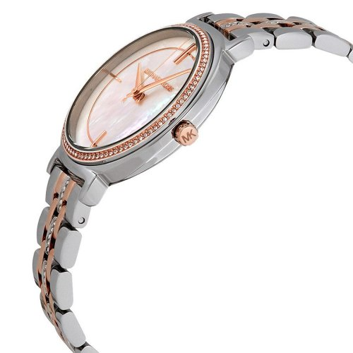 MICHAEL KORS Cinthia Crystal Mother of Pearl Dial Ladies Watch MK3831