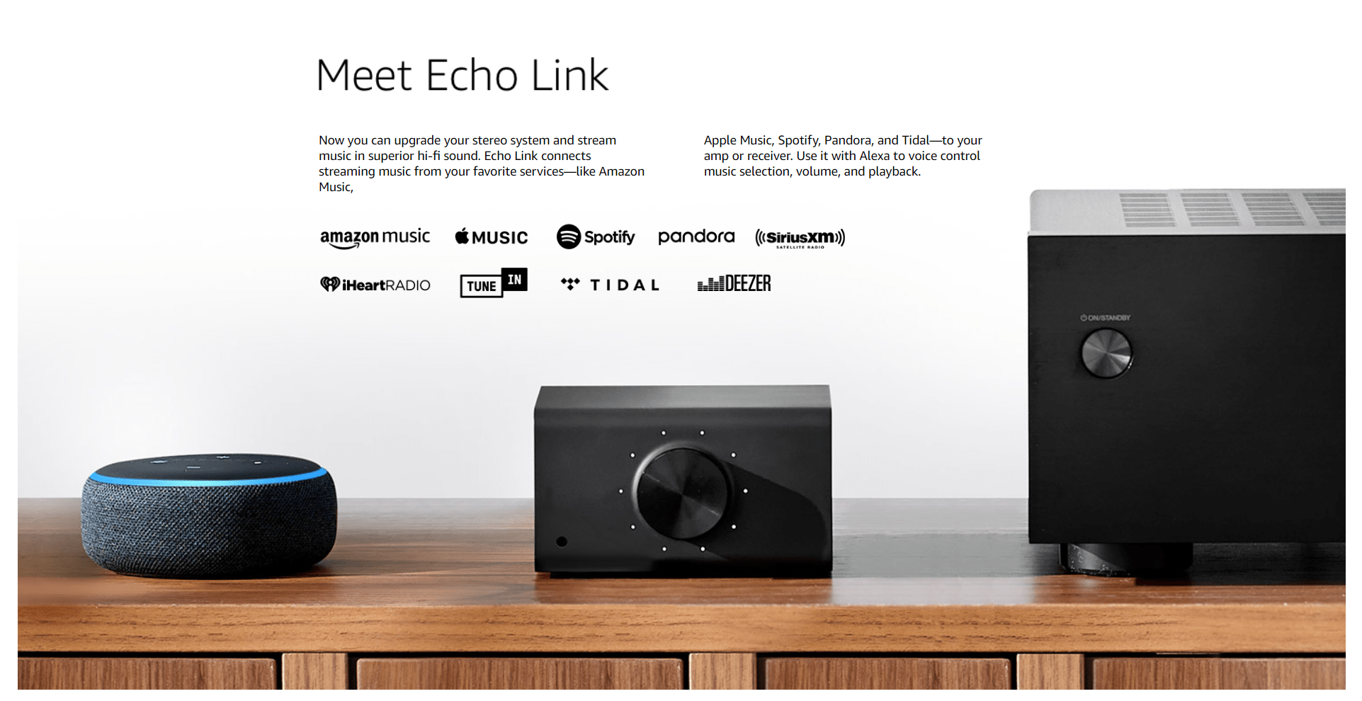 Echo Link - Stream hi-fi music to your stereo system - CAMBO QUICK