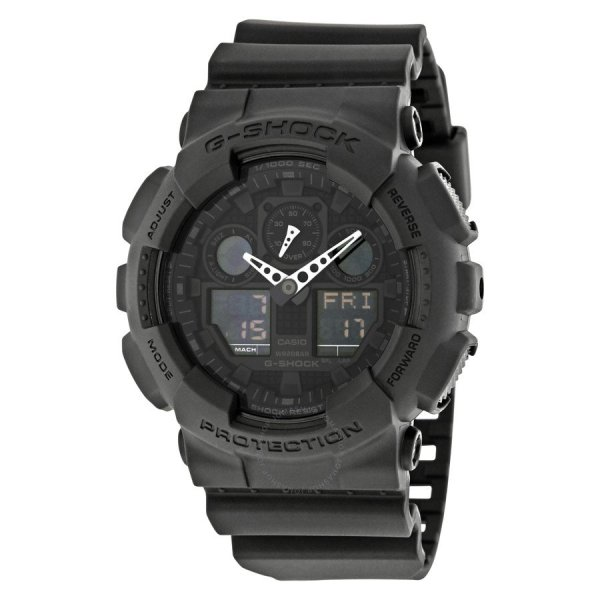 CASIO G-Shock Classic Series Analog-Digital Black Dial Men's Watch GA100-1A1CR