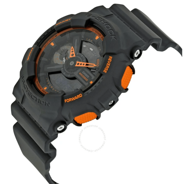 CASIO G-Shock Grey and Orange Resin GA110TS-1A4