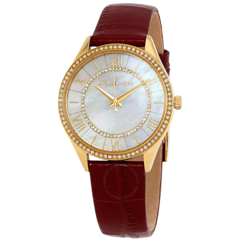 MICHAEL KORS Lauryn Crystal White Mother of Pearl Dial Ladies Watch MK2756