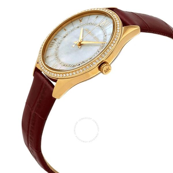 MICHAEL KORS Lauryn Crystal White Mother of Pearl Dial Ladies Watch MK2756