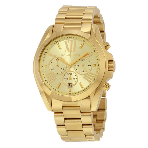 MICHAEL KORS Bradshaw Chronograph Champagne Dial Unisex Watch MK5605