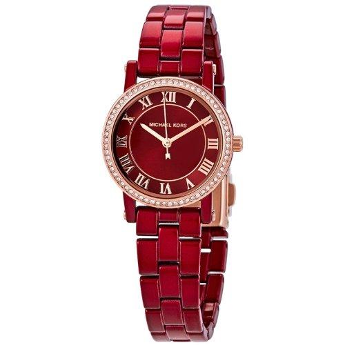 MICHAEL KORS Norie Crystal Red Dial Ladies Watch MK3896